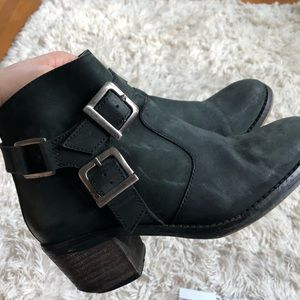 ASOS leather booties